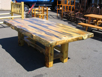 Log Pine Dining Tables