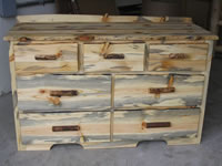 Blue Pine Dresser - 7 Drawer