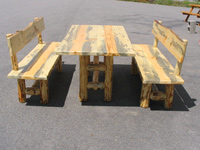 Pine Log Dining Tables