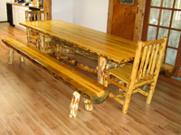 Pine Log Dining Tables Part 56