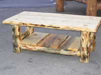 Classic Pine Log Coffee Table