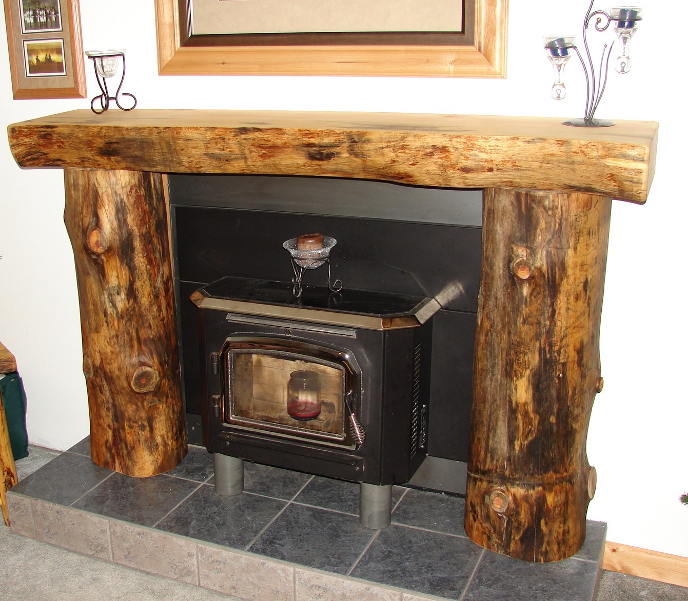 Log fireplace mantels - Mantelpieces fireplaces ...