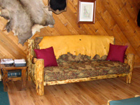 Pine Log Couch