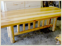 Blued Pine Dining Table