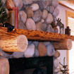 Log Mantelpieces, Accent Logs and Handrails